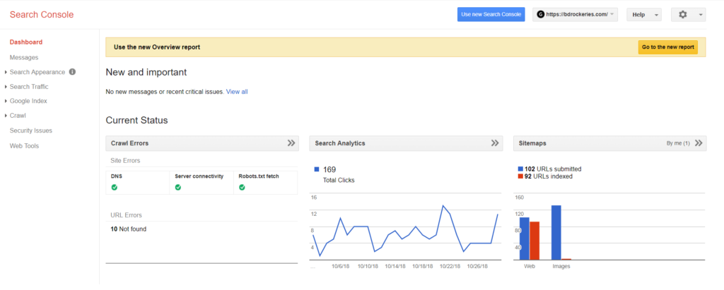 Search Console SEO basics