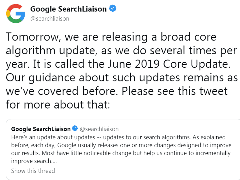 june 2019 broad core update