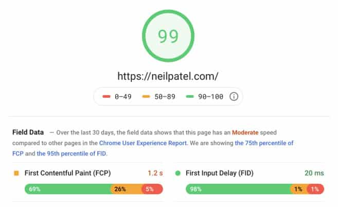 mobile pagespeed test